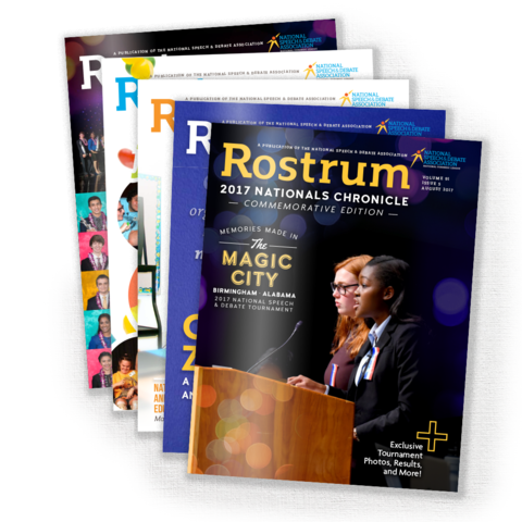 Rostrum Magazine Covers