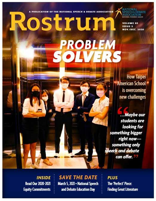 Rostrum: Problem Solvers Volume 95, Issue 2 Nov/Dec 2020