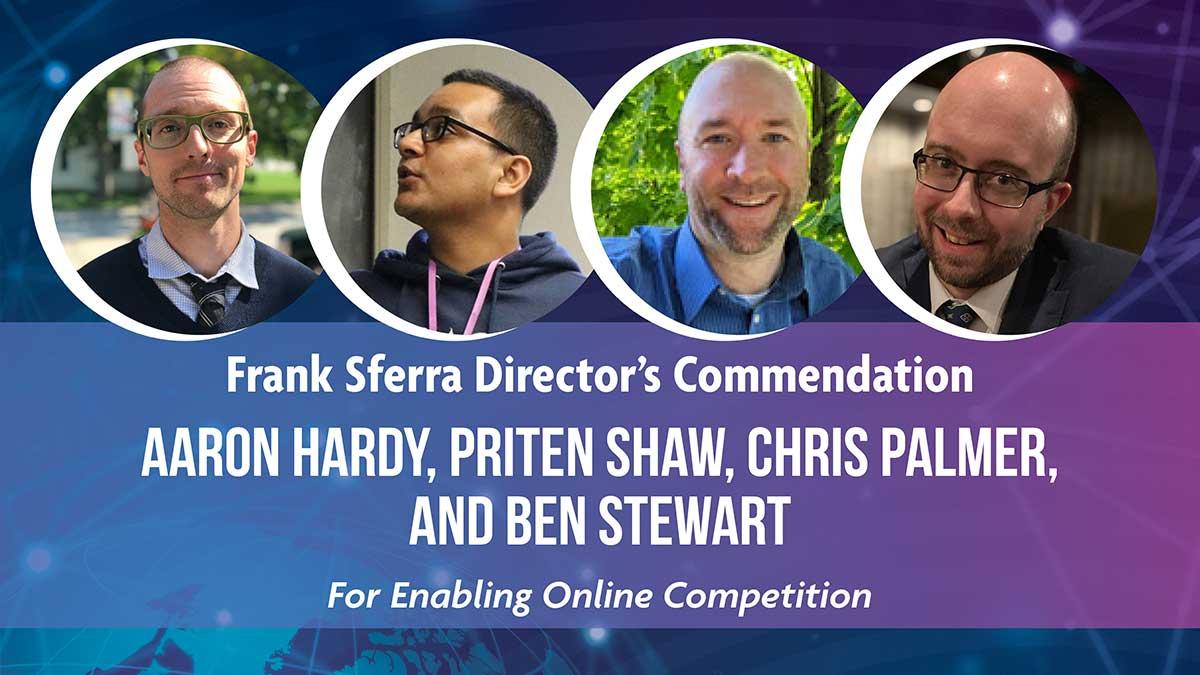 Frank Sferra Director's Commendation - Aaron Hardy, Priten Shaw, Chris Palmer, And Ben Stewart