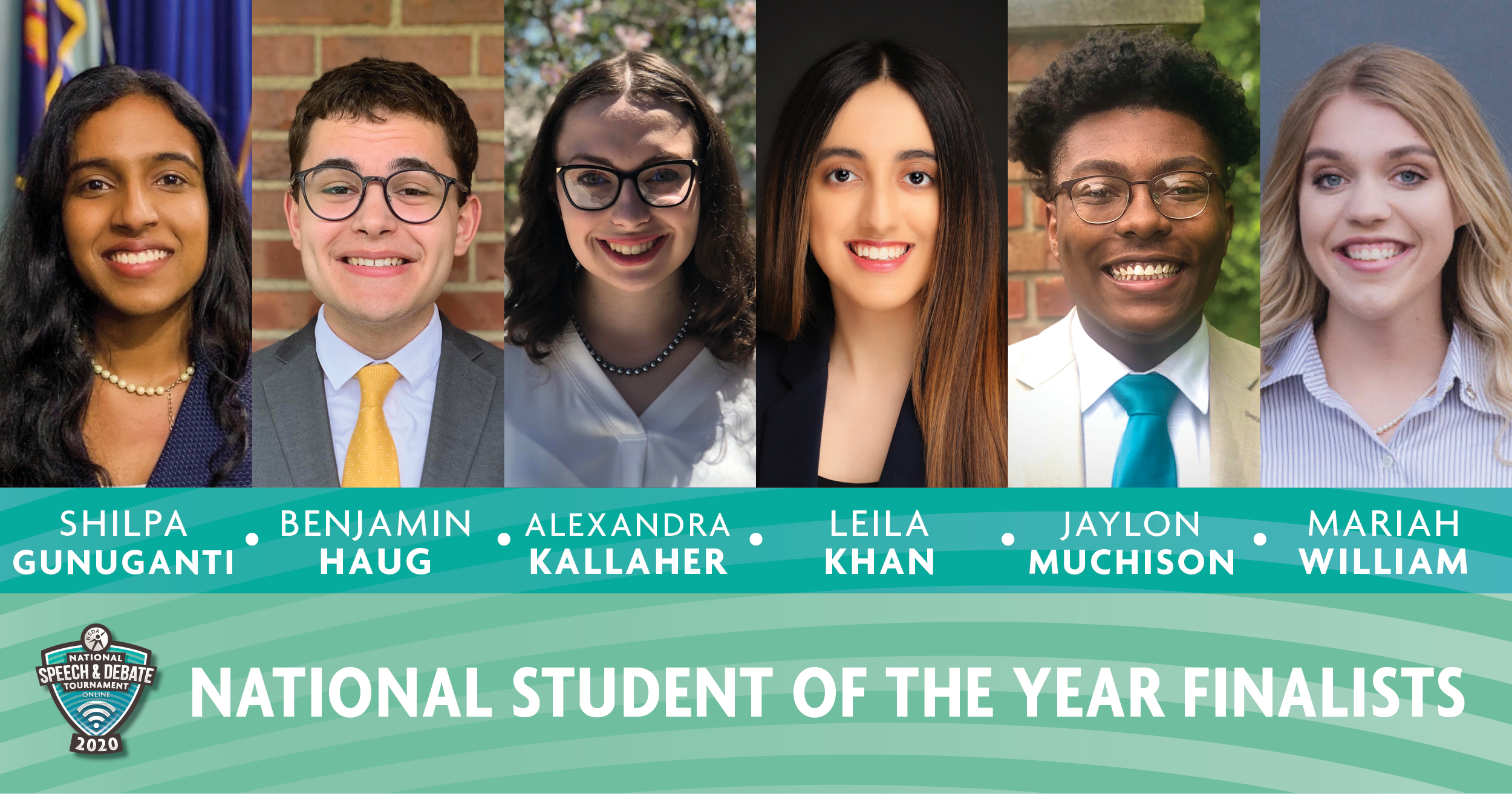 2020 Student of the Year Finalists