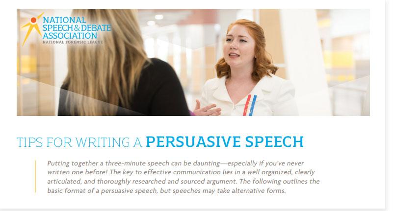 Writing a Three-Minute Persuasive Speech