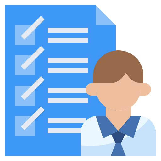 Icon of person next to a checklist